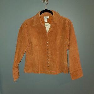 NWT Burnt Orange Coldwater Creek Saude Jacket